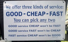 Gut – Billig -Schnell
